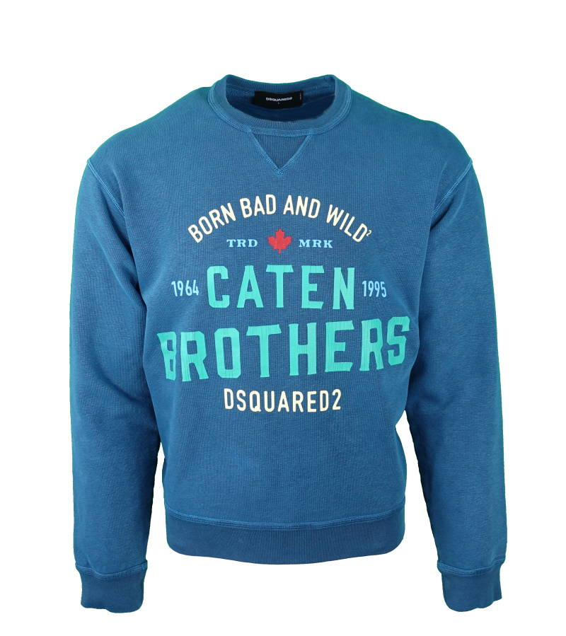 DSQUARED2 Caten Brothers Sweater Blauw
