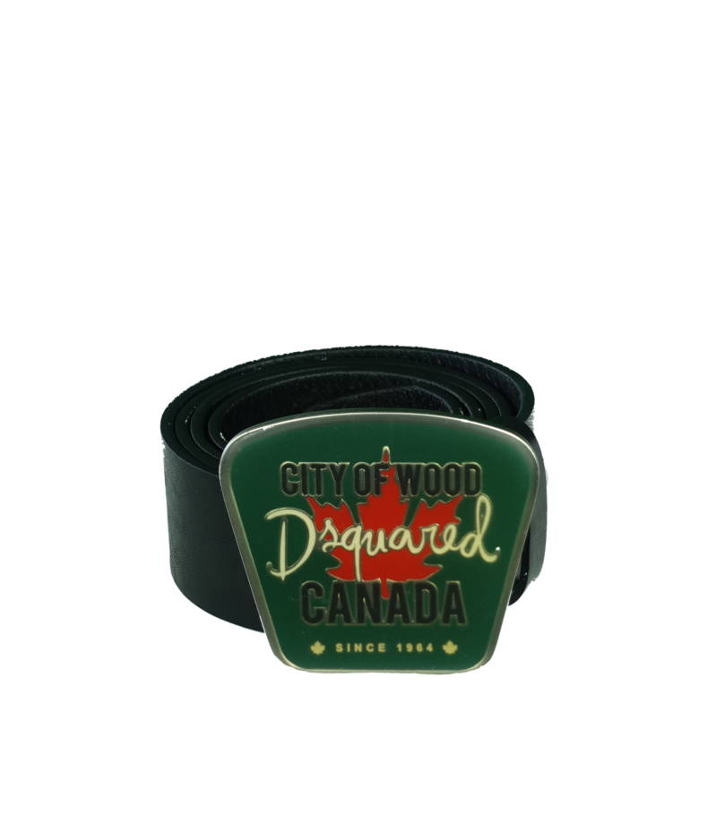 DSQUARED2 City Of Wood Canada (Groen) Riem Zwart