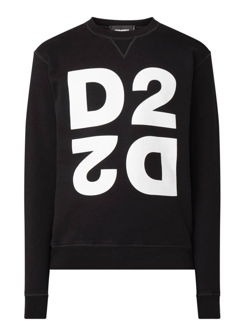 Dsquared2 D2 sweater zwart