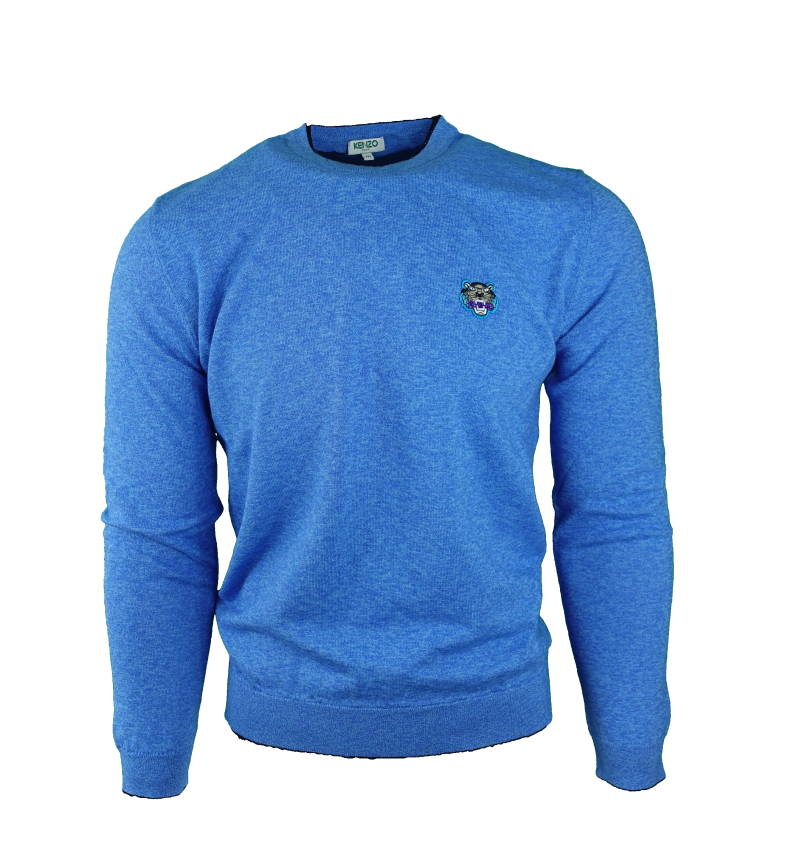 Kenzo Pullover Tiger Head Logo Blauw