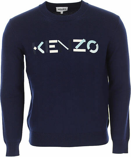 Kenzo pullover wol blauw