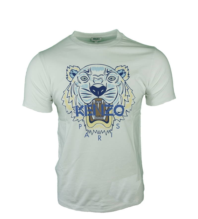 KENZO Tiger T-shirt Wit - Donkerblauw