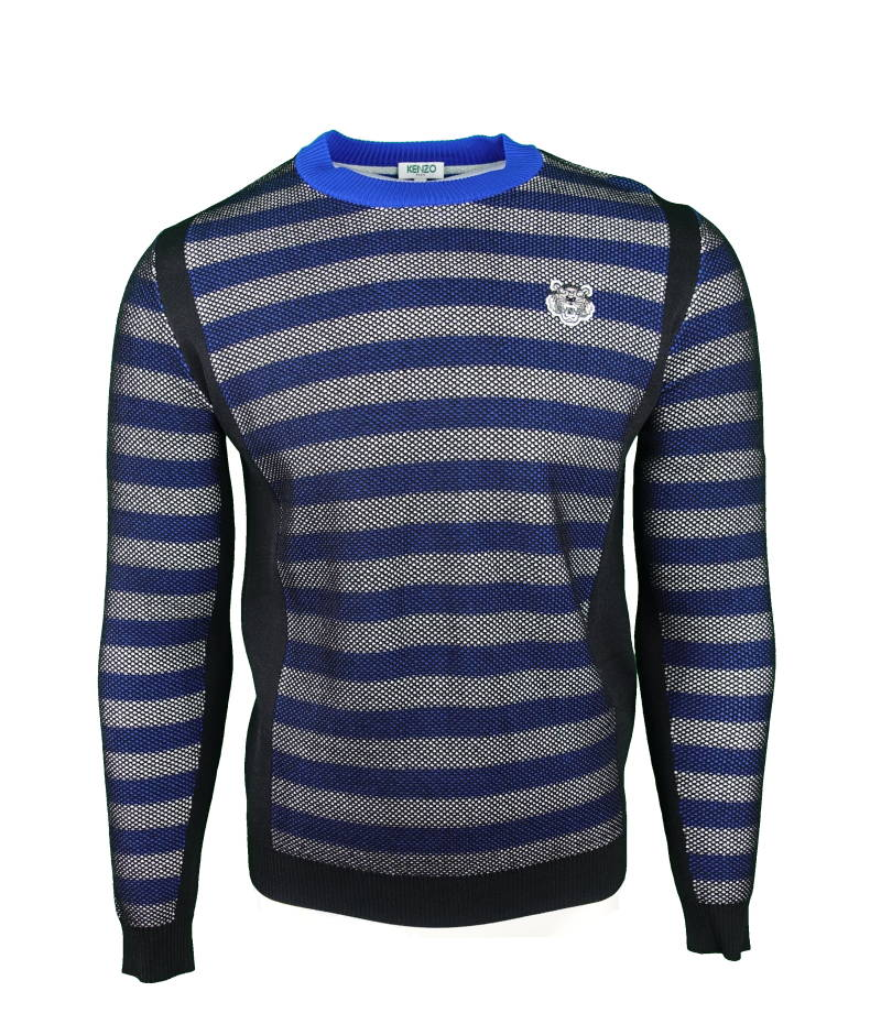 KENZO Mini Tiger Striped Jumper Blauw/zwart