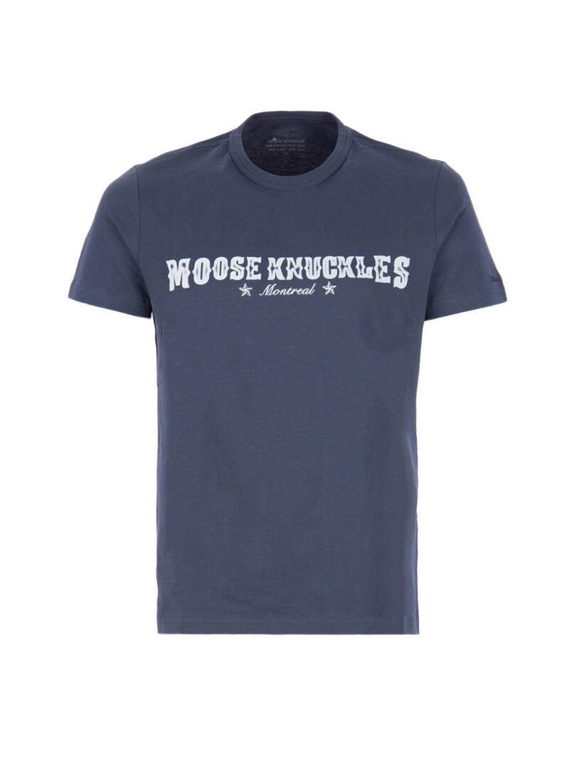 Moose knuckles T-shirt blauw