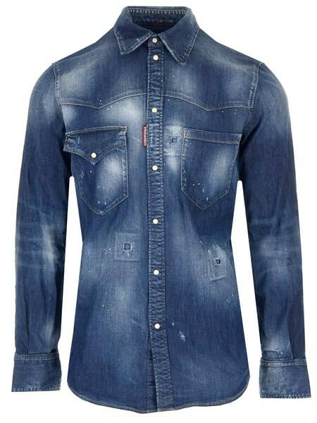 Dsquared2 denim shirt dark blue SS21
