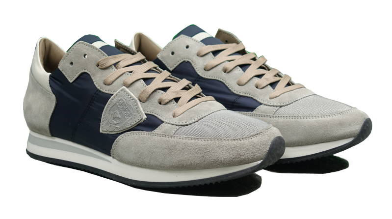 Philippe Model Tropez Sneakers Gris Blanc - AW1819