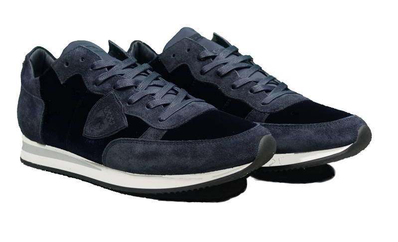 Philippe Model Tropez Sneakers Velour Blue - AW1819