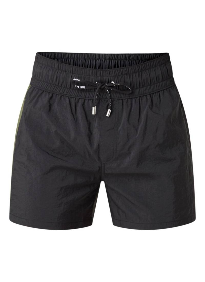 Balmain swim boxer logo band black khaki