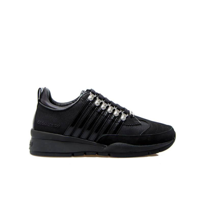 Dsquared black stripes sneaker