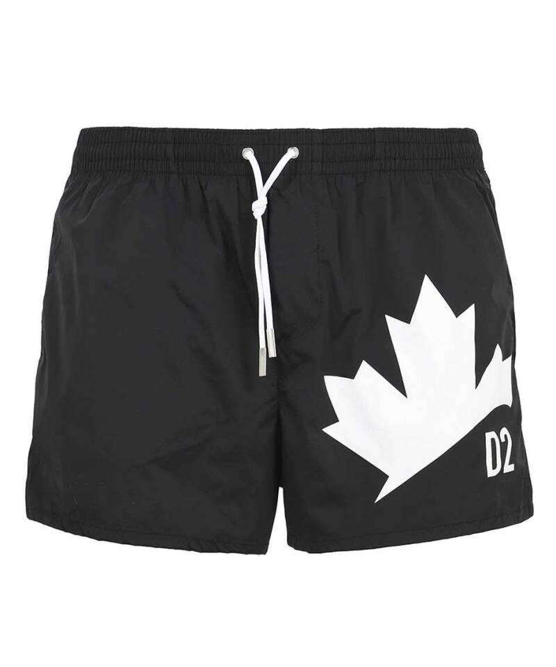 Dsquared2 swimwear leaf black SS21