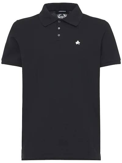 New Dsquared2 polo black with white leaf SS21