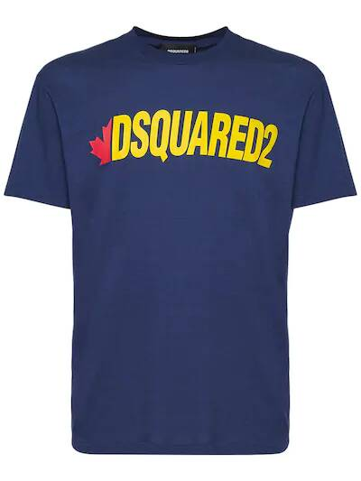 New Dsquared2 t-shirt blue/yellow design SS21