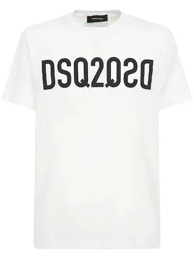 New Dsquared2 t-shirt dsq2 white SS21