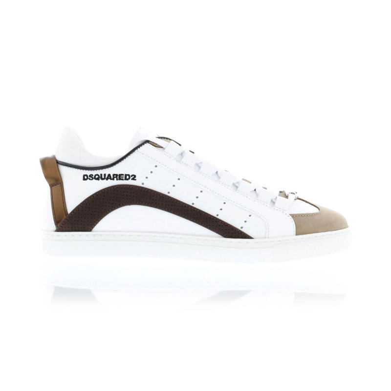 Dsquared Lop Top Sneaker Bianco+Marrone