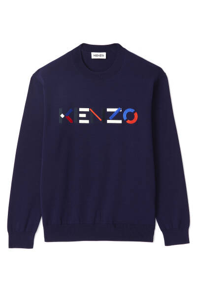 New Kenzo pullover blue SS21