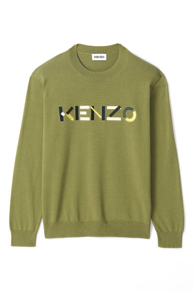 New Kenzo pullover green SS21
