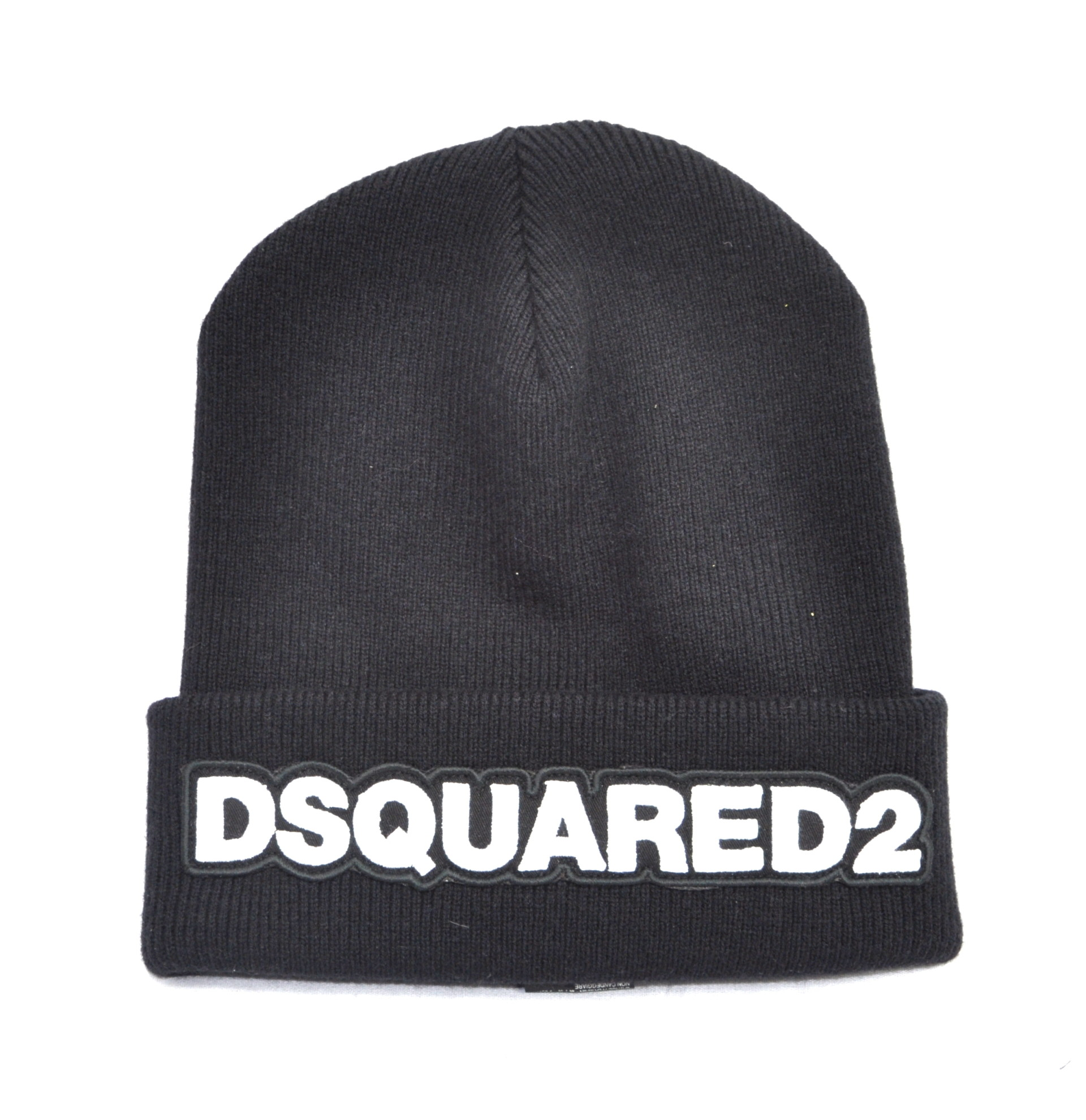 5f4bc2d57351f Dsquared2 Beanie Branded Hat Black White Muts Zwart Wit - AW1819 ...