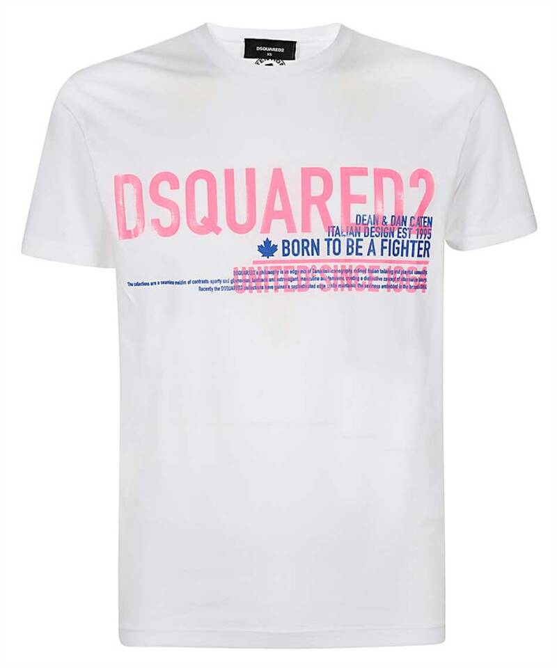 Dsquared T-shirt wit/roze