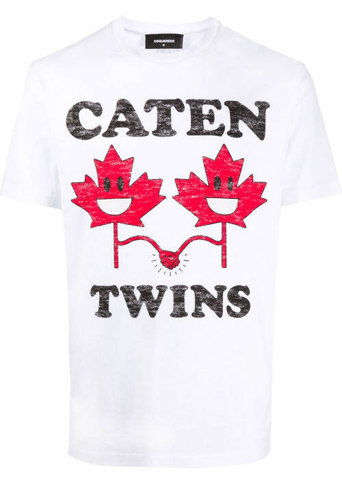 Dsquared T-shirt caten twins wit