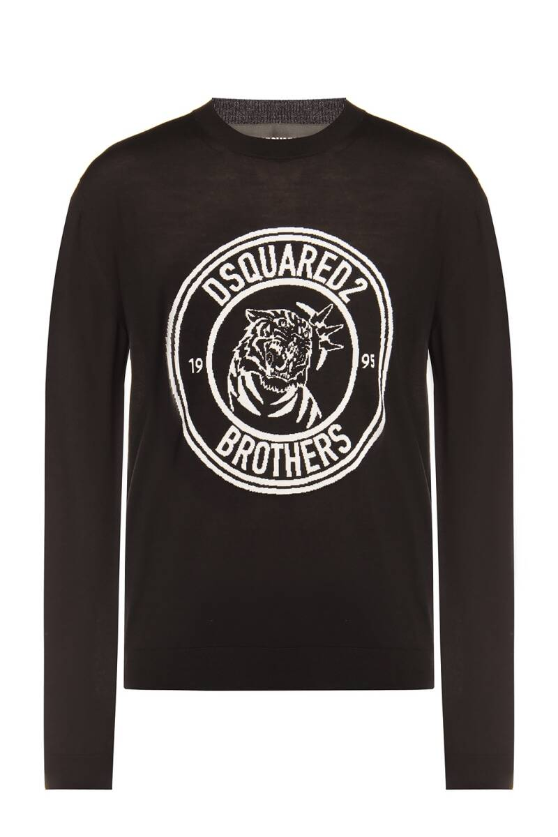 Dsquared pullover zwart/wit