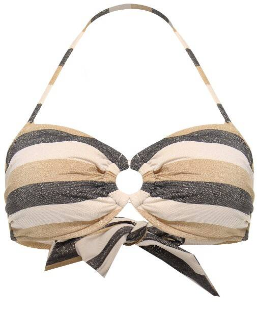 Bandeau Bikinitop Sunset Stripe van Seafolly in de kleur Lurex Gold - 31083-619