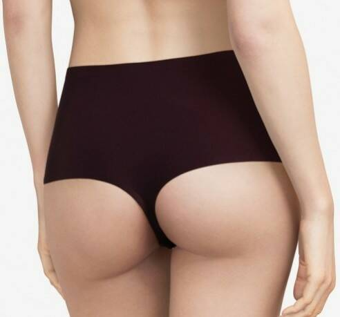 Soft Stretch Naadloze High Waist String - 1069 - Zwart