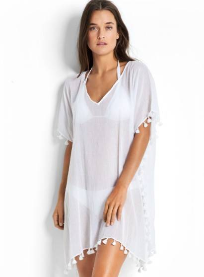 Seafolly Kaftan On Going - 52162 - Wit