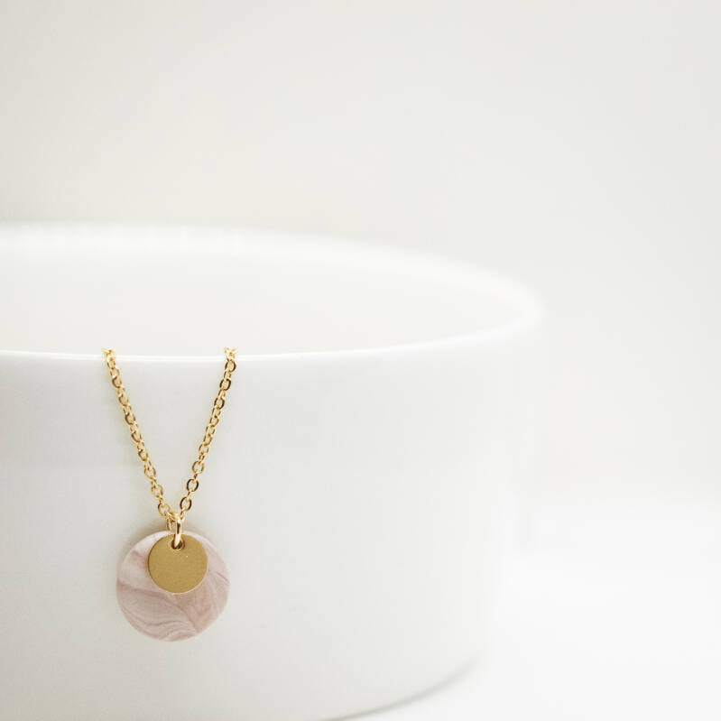 blush | coin necklace