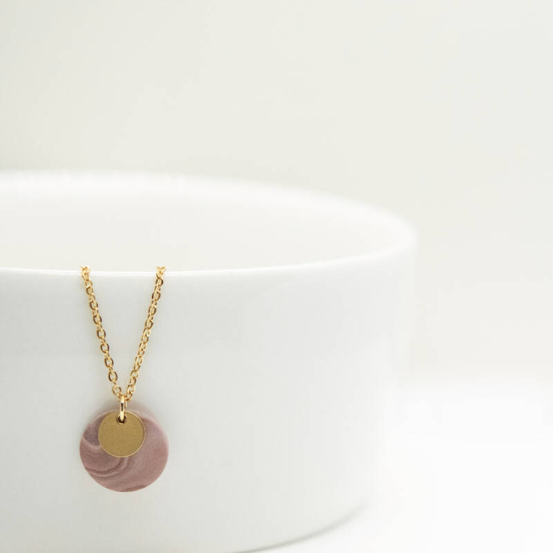 deep rose | coin necklace