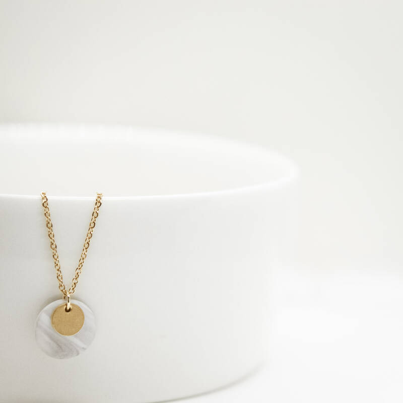 sea mineral | coin necklace