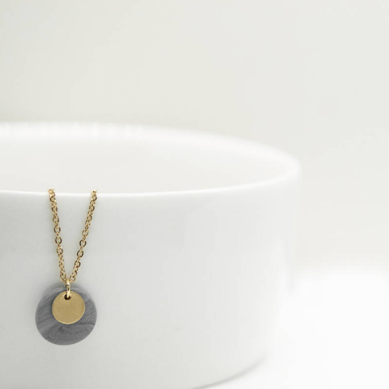 dark mist | coin necklace
