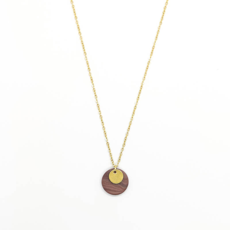 aubergine | coin necklace