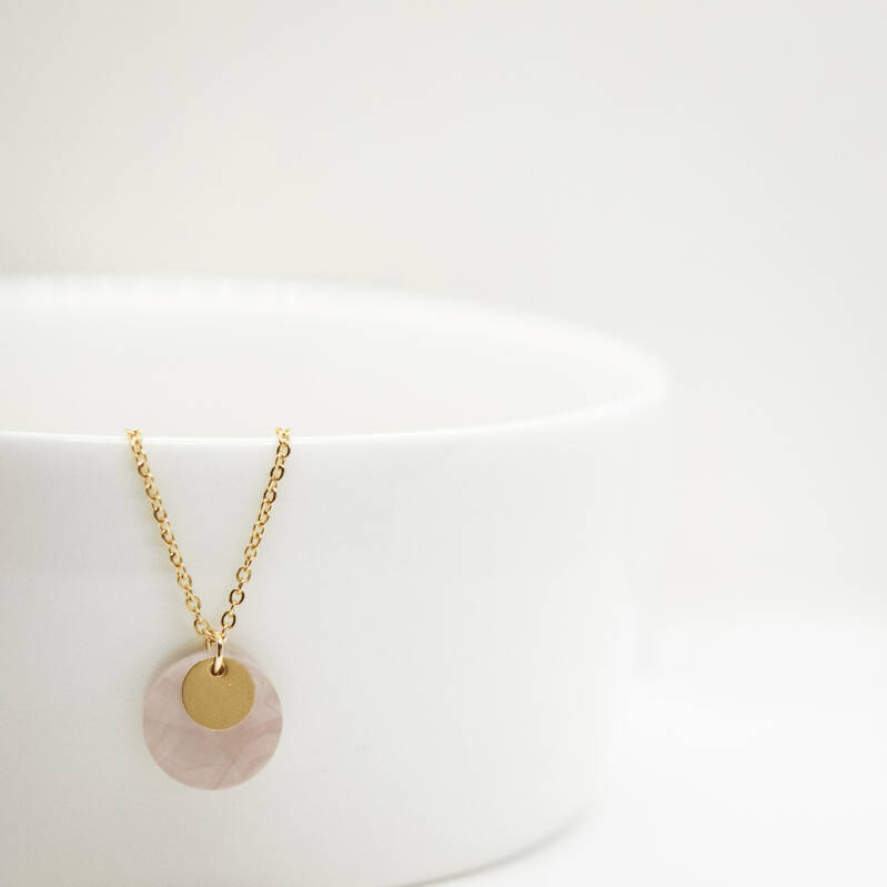 blush   coin necklace