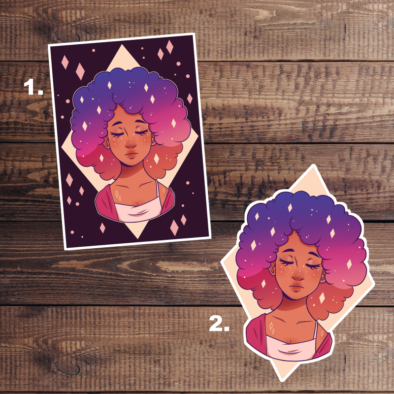 Space Lady Stickers