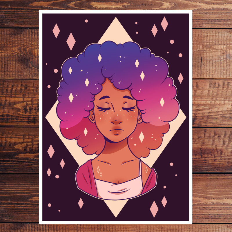 Space Lady | Art print