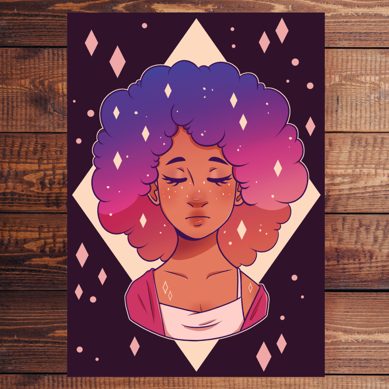 Space Lady - Digital Print