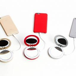 PEARL COMPACT MIRROR WITH POWERBANK
