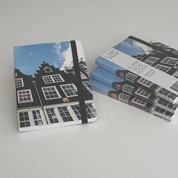 HARDCOVER NOTEBOOK A6 CAPTAINS´ HOUSES AMSTERDAM