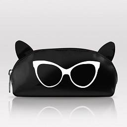 SUNGLASSES POUCH CAT EARS ASSORTED COLOURS