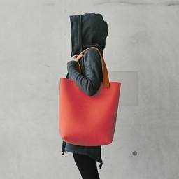 FELT TOTE BAG WITH LEATHER ASSORTED COLOURS