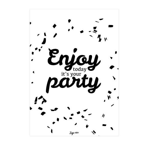 Postkaart / Enjoy today it's your party