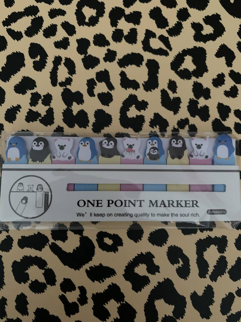 One point stick notes