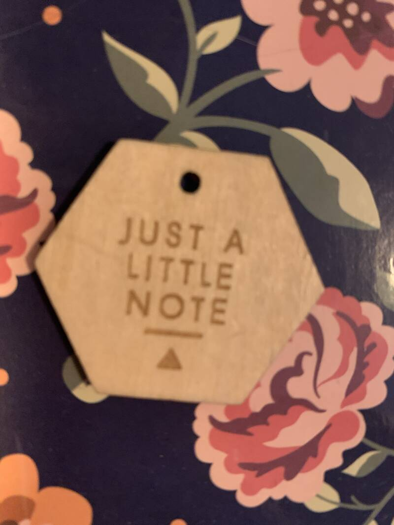 Just a little note label