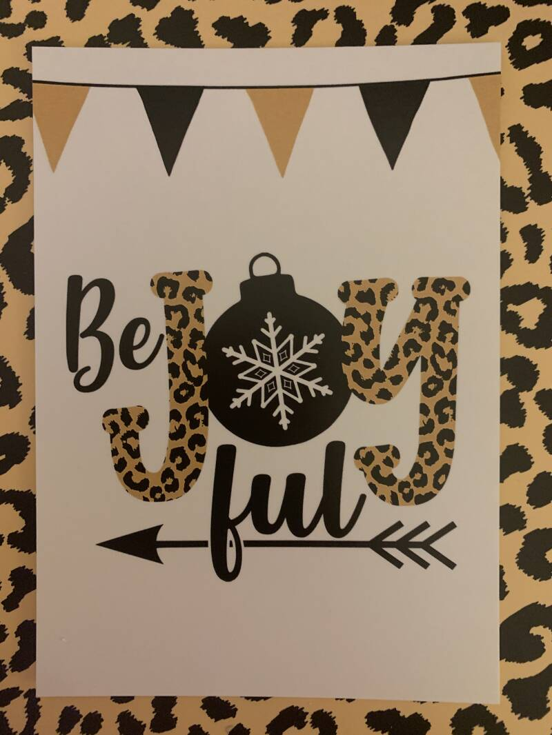 Be Joy Ful kerstkaart