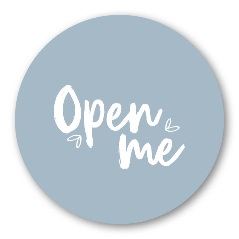 Open me stickers
