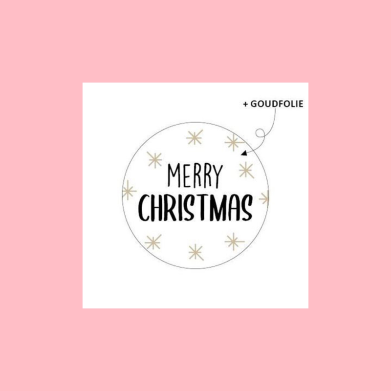Merry Christmas | Goudfolie | Stickers