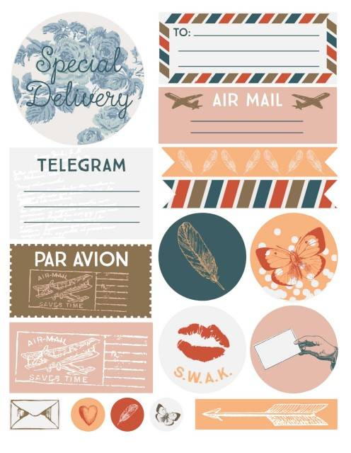 Stickers - Airmail - CKSV0001