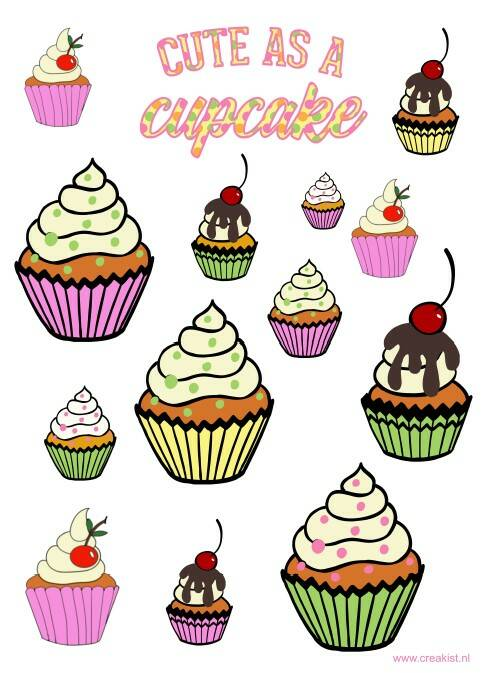 Stickers - Cute as a cupcake - CKSE0007