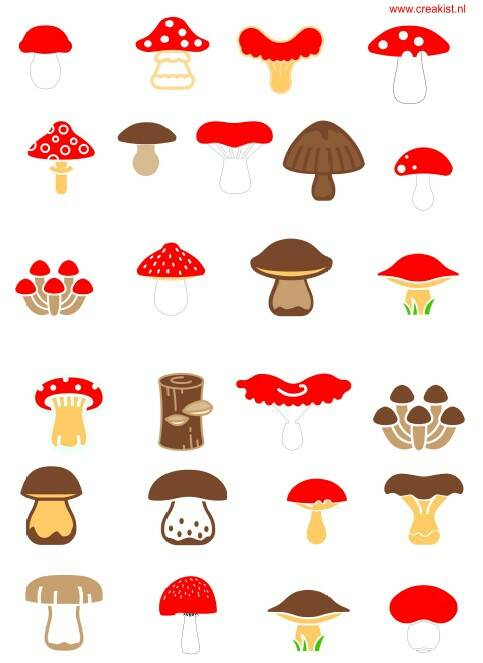 Stickers - Paddenstoelen - CKSH0007