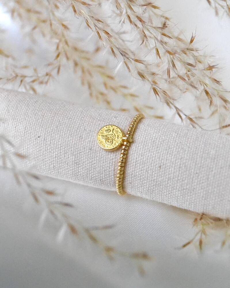 GOLDEN COIN RING